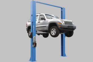 نمونه قرارگیری اتومبیل در جک دو ستون